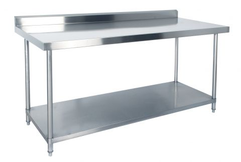 KSS 1500mm Bench w/ Shelf Underneath and Splashback