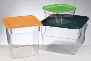 Polycarbonate  Square Storage 7.6Lt (Lid Sold Seperately)