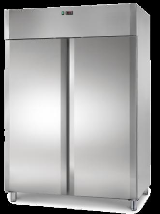 2 Door Stainless Steel Upright Fridge