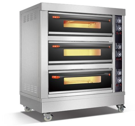 Amalfi Series Electric Three Deck Oven - 6 Trays