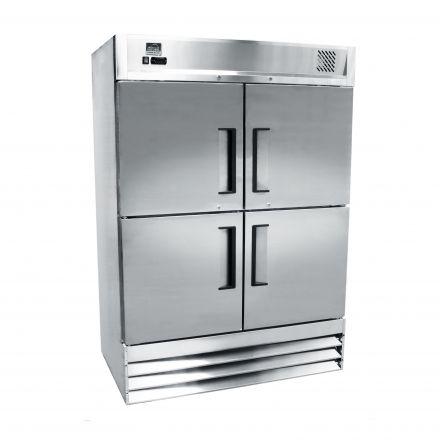 Mitchel Refrigeration Stainless Steel Four-Half Door Refrigerator