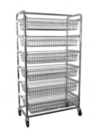 KSS 6 Basket Horizontal Bakery Trolley