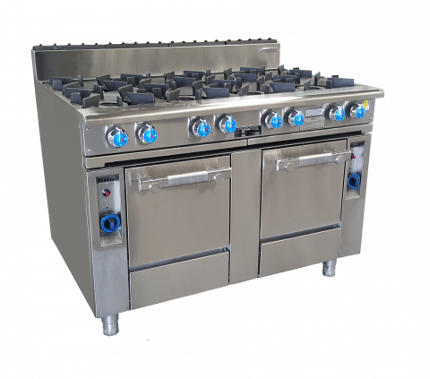 Oxford 8 Burner Cooktop with 2 Gas Ovens