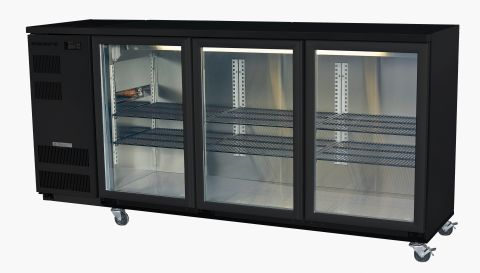 Skope 3 Door Backbar Undercounter Black Colour BB580-3SW
