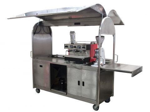 KSS Stainless Steel Coffee Cart