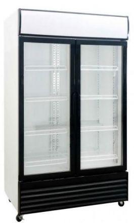Saltas Double Glass Door Fridge - 1000 Litre