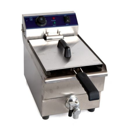 Royston single tank fryer with oil tap 10lt