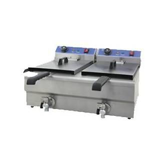 Royston double tank fryer with oil tap 20lt