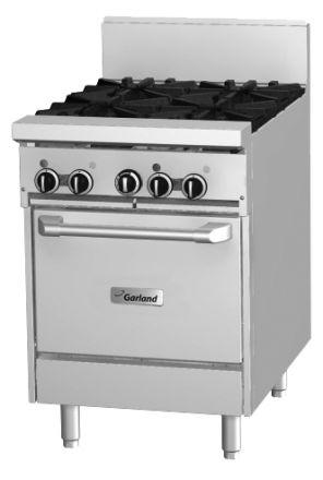 Garland GF24-4L 4 Burner Range with oven