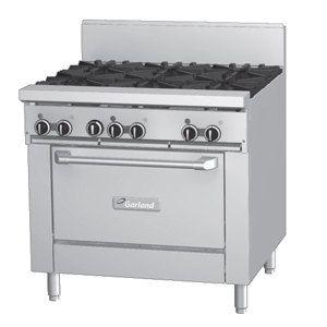 Garland GF36-6R 6 Burner Range with Oven