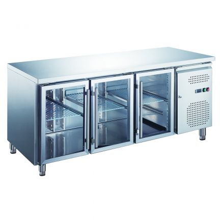 Mitchel Refrigeration 3 Glass Door Undercounter Refrigerator