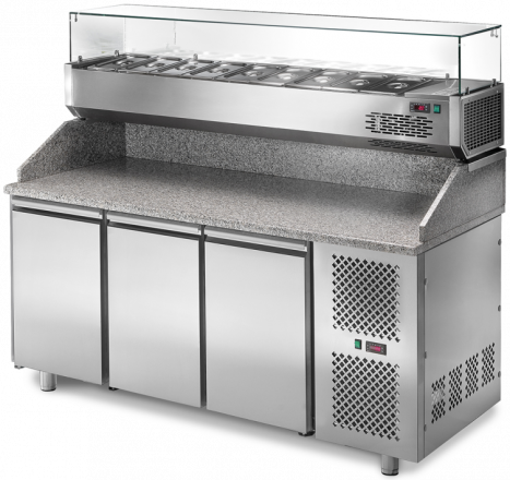 Refrigerated counter Pizza bar 2 door