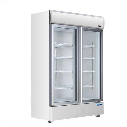 Mitchel Refrigeration Glass 2 Door Drinks Refrigerator (Swing Doors)