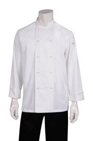 CW Murray White L/S Basic Chef Jacket