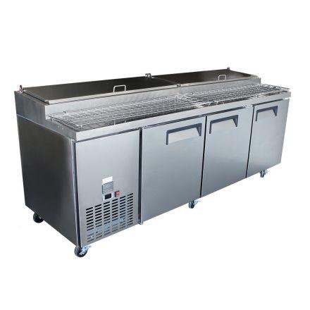 Mitchel Refrigeration 3 Door Pizza Bar