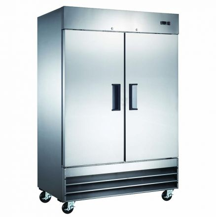 Mitchel Refrigeration Stainless Steel Two Door Freezer
