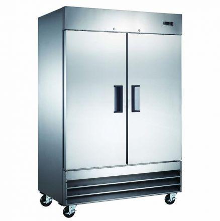 Mitchel Refrigeration Stainless Steel Two Door Refrigerator